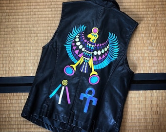 Hand painted Egyptian Themed Vest