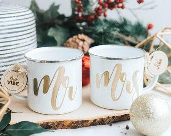 Set of Mr. and Mrs. C&fire Mugs Newlywed Engraved C& Mug Hand Letter Mug Christmas Gift for Newly Married Couple Couple Gift Ideas & Newly married   Etsy