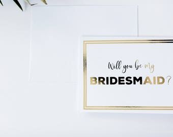 Bridesmaid Proposal card, Will you be my Bridesmaid Card, Will you be my maid of honor card, Maid of Honor Proposal card ((SINGLE CARD))