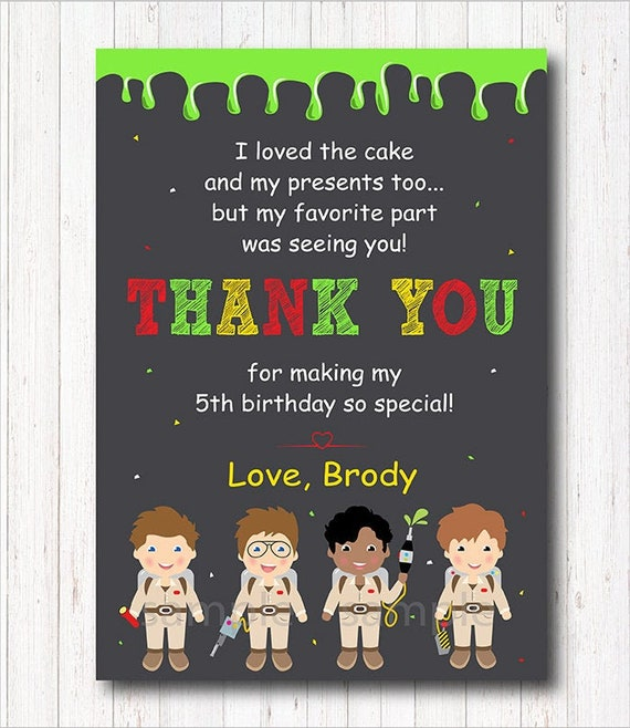 Ghostbusters Thank you Gard printable Chalkboard Ghostbusters Party Ghostbusters Thank you Note Ghostbusters Birthday