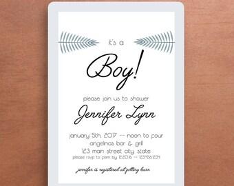 It's a Boy/Girl Watercolor Invitation