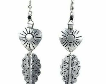 Hand made Aluminium patterned Earrings.