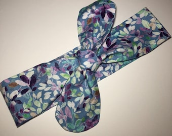 Colored Leaves Rounded Self Tie Headband
