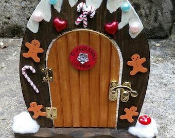 Fairy Door -Gingerbread Cottage