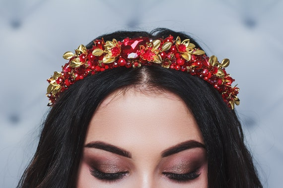 Accessories Hairband Hair Baroque Jeweled Embellished Crystal Ladies Headband