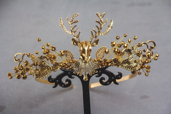 Game of Thrones Style Gold Woodland Crown