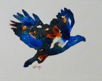 Original Painting, Eagle, Acrylic Painting, Mixed Media, Abstract, Canadian, Wildlife