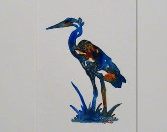 Original Painting, Heron, Acrylic Painting, Abstract, Canadian, Wildlife
