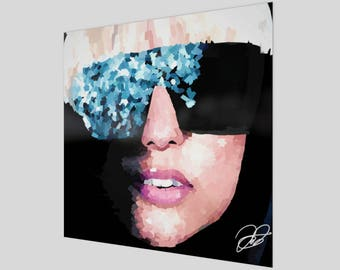 Lady Gaga - The Fame - Painted Art Poster Print