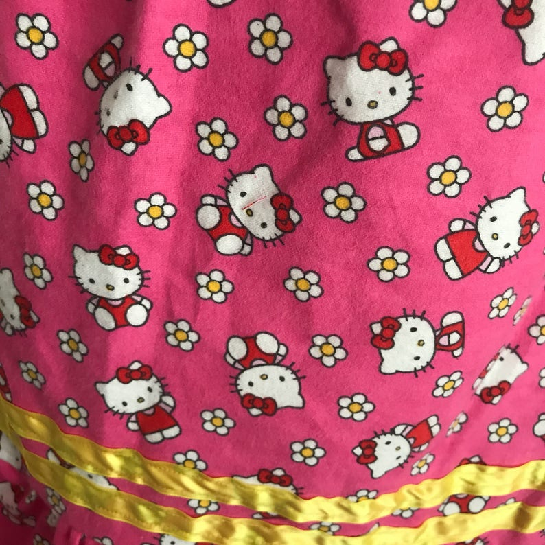 Girls pink little Kitty nightgown with ruffles and ribbon