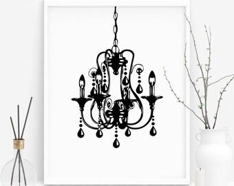 Chandelier print etsy chandelier print chandelier art chandelier decor chandelier wall art chandelier wall decor printable art bedroom decor modern print aloadofball Images