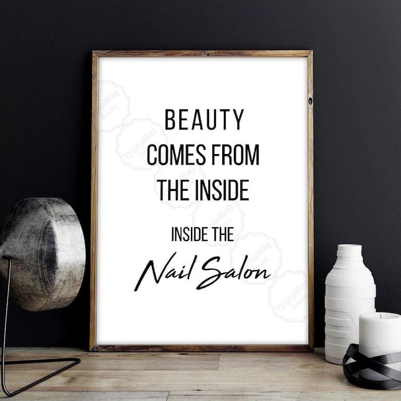 Nail Salon Art Nail Tech Gifts Digital Download Beauty Salon image 1