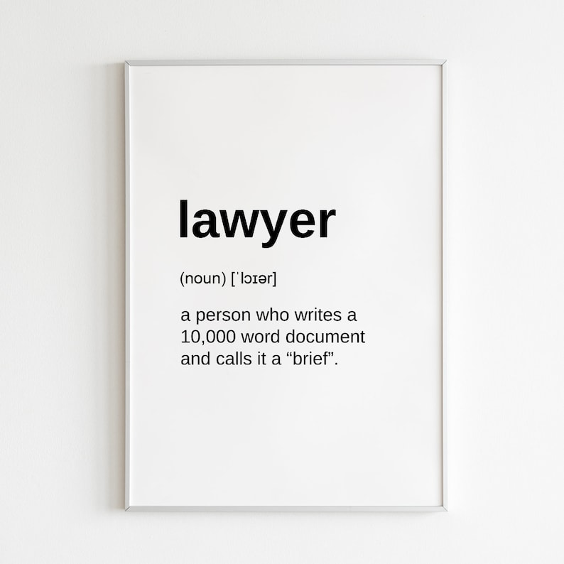 photo relating to Printable Definitions identify Legal professional Present Artwork Print Place of work Decor, Legal professional Wall Artwork Amusing Definitions Printable Poster, Attorney Definition Present for Attorney or Legislation Scholar