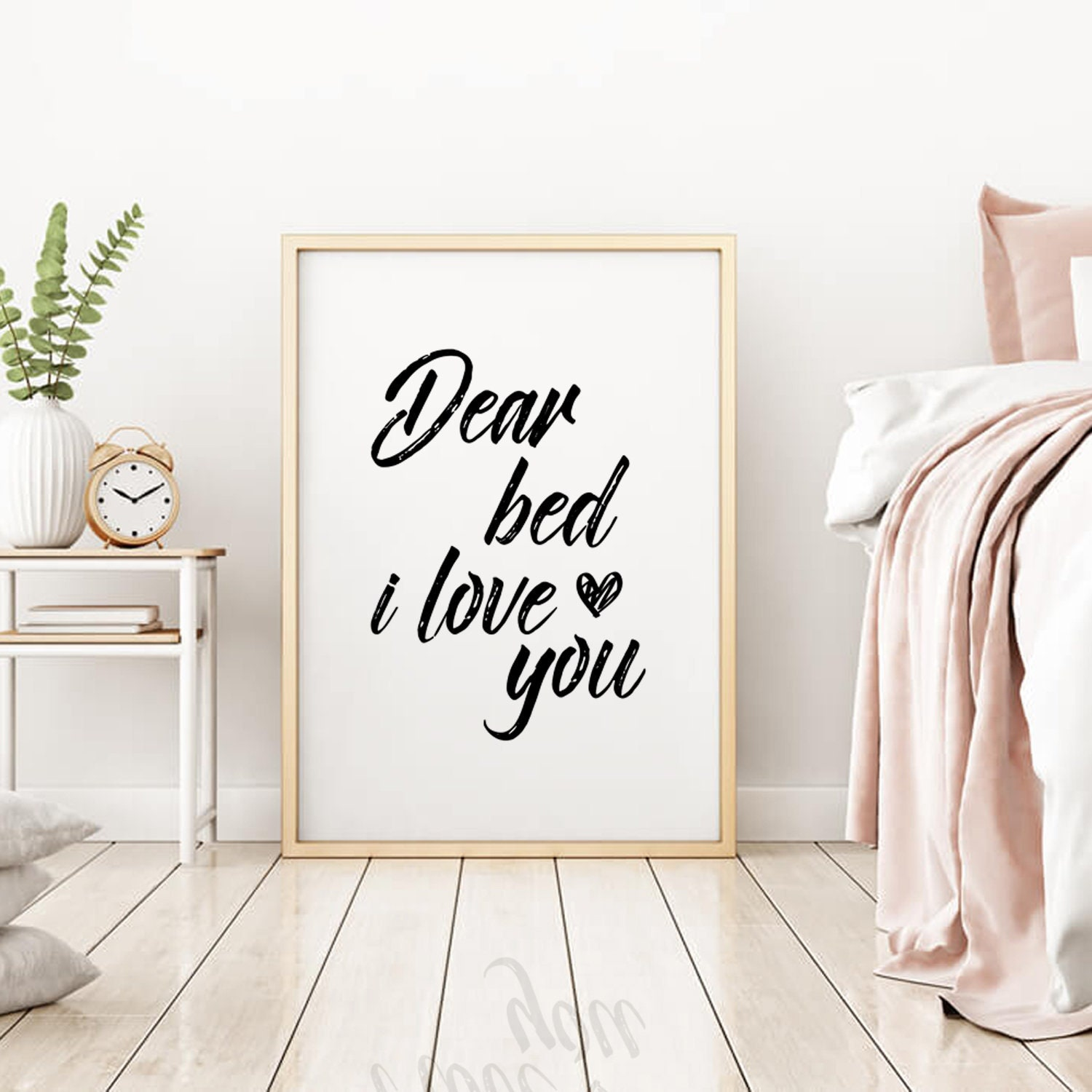 Bedroom Wall Decor Bedroom Wall Art Dear Bed I Love You Bedroom Sign Digital Download Above Bed Sign Funny Quote Prints Bed Print