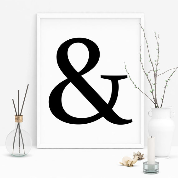 Ampersand Wall Art Ampersand Printable Ampersand Wall Decor Etsy