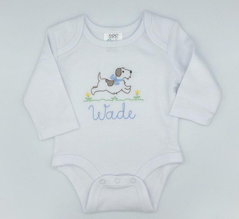 Baby Boy Dog Running Custom Outfit
