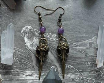 The Raven Amethyst Gemstone Earrings
