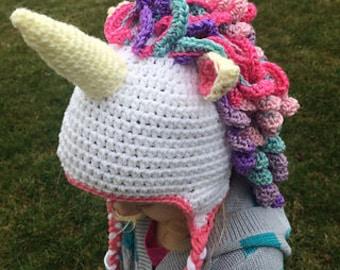 Crochet Unicorn Hat PATTERN 5df382672ea