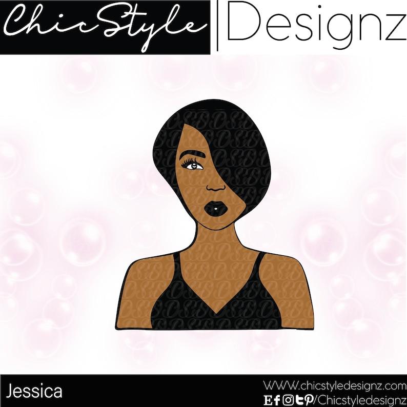 Jessica 2-Short hair svg, Afrocentric Svg cutting file, Natural Hair Svg,  Natural, pixie hair svg, Ethnic Svg , African SVG, Black Woman Svg