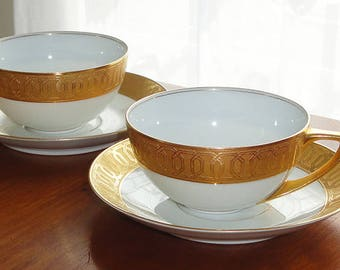 PRICE REDUCED! Pair of Antique Rosenthal Selb-Bavaria Teacups & Saucers