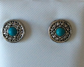 Hypo Allergenic 3 pair of Stud Earrings Blue Surgical Steel posts