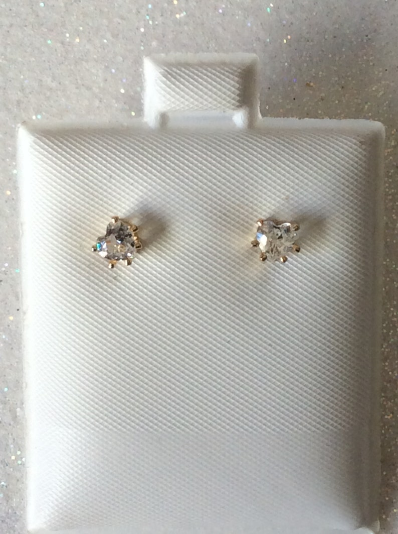 3 pair of small  3mm Hypo Allergenic Earrings  Round square or hearts