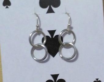 Two Ring Dangle Earrings