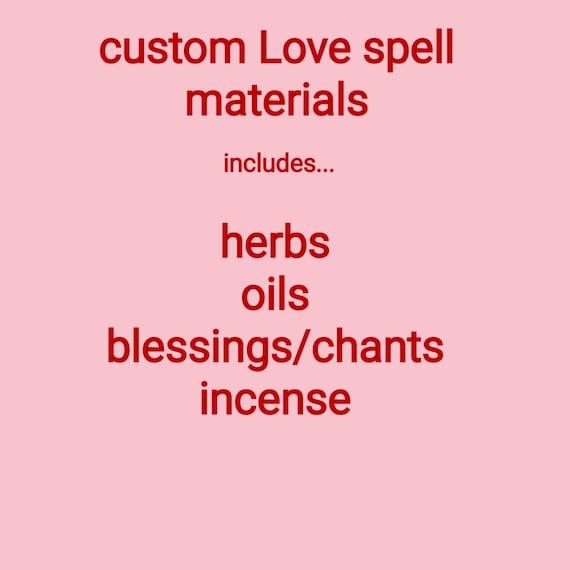 custom Love spell materials