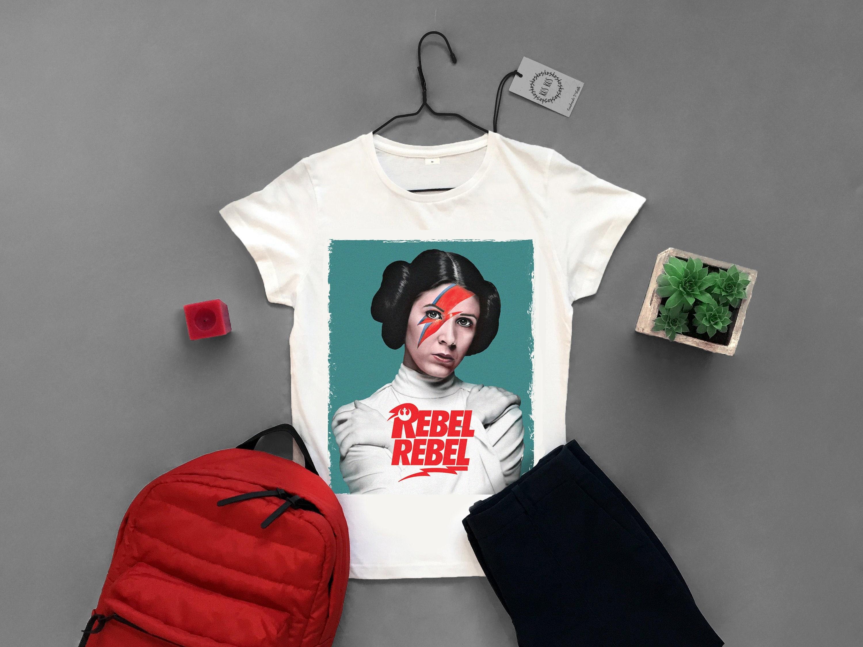 6d0016dd5e064e Rebel Rebel tshirt Princess Leia White women's shirt David | Etsy
