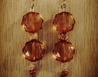 Copper tone dangled earrings