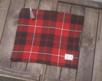 Cunningham Tartan Zipper Pouch Large