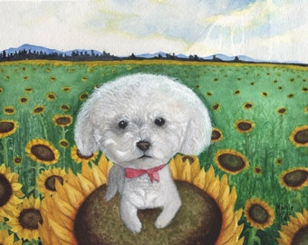 Custom watercolor painting, personalized commission. Pets, portraits, family, etc.