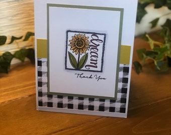 6 Thank You cards & Envelopes