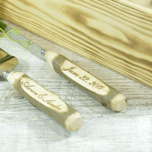 Branch Handle Cake Server Set Stainless Steel Birch Branch Handle Cake Server Set
