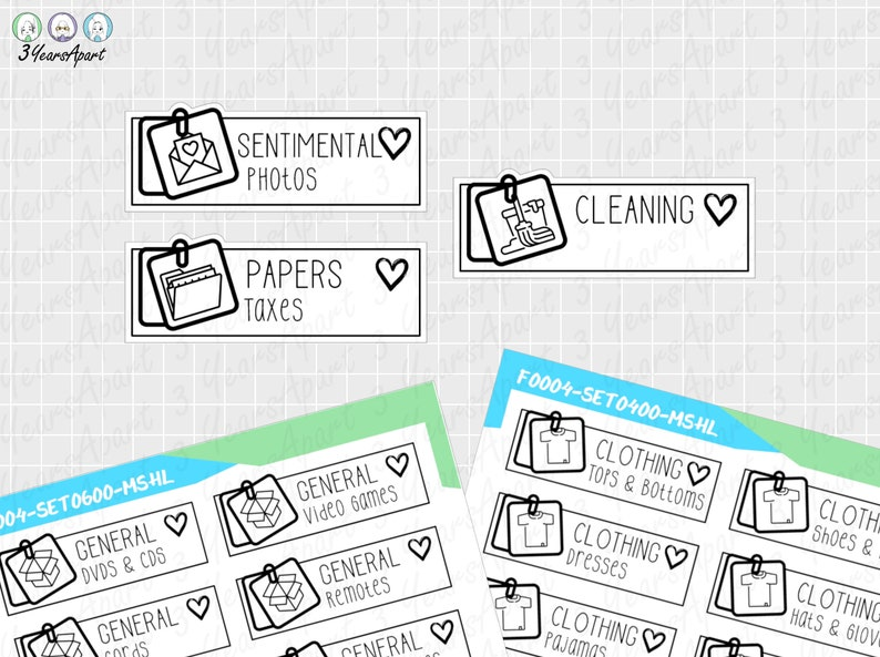 KonMari Declutter Stickers  Functional Cleaning Tidy Reminder image 0