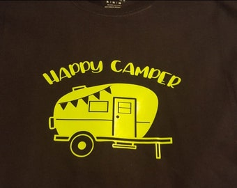 a8da233052 Happy Camp Life Camper Camping Glamping New Various Sizes and Colors  Available Adult Shirt Tshirt T-shirt I love Camping Campfire