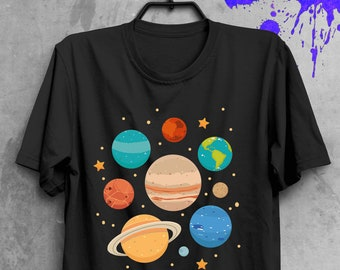 d593a23cb Solar System Planets T-Shirt Space Shirt Solar System Planets Shirt Tumblr Shirt  Space T-shirt Science Shirt Astronaut Shirt Tumblr BF1077