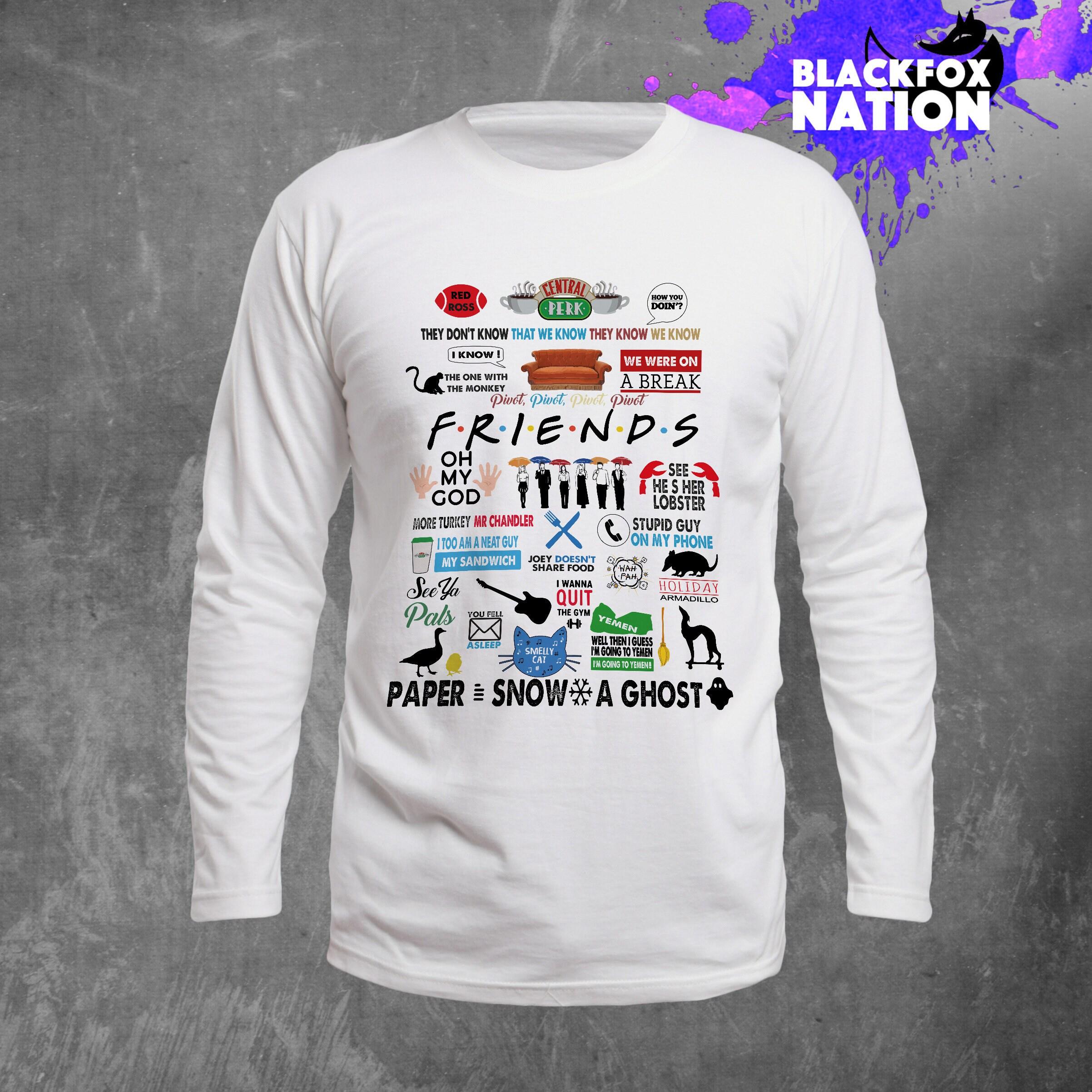 Amis TV show Long T-shirt Sleeve T-shirt Long amis TV Unisexe Vêtements comment vous fais Long Manche longues manches Joey chemise 90 s chemise BF1080 idée cadeau 70f0c5