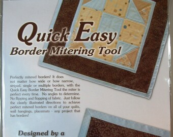 Quick Easy Border Mitering Tool by Sew Biz Inc.