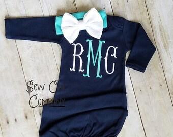 Bébé fille Coming Home tenue, fille nouveau-né, rentrer à la maison tenue, bébé fille, nouveau-né robe, robe enfant, robe de fille de bébé