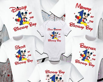 7b7ae09d4 Mickey Mouse Birthday Shirt/ Mickey Family Shirt/ Disney Matching/ Disney  Birthday/ Disney Family Vacation/Disney Mouse Shirts/ Party Family