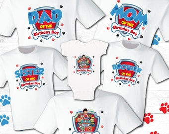 ebdeb4f75 Paw Patrol Birthday Shirt Paw Patrol Family Shirt Mommy Patrol Birthday Boy  Paw Patrol Shirt Party shirt Paw White T shirts