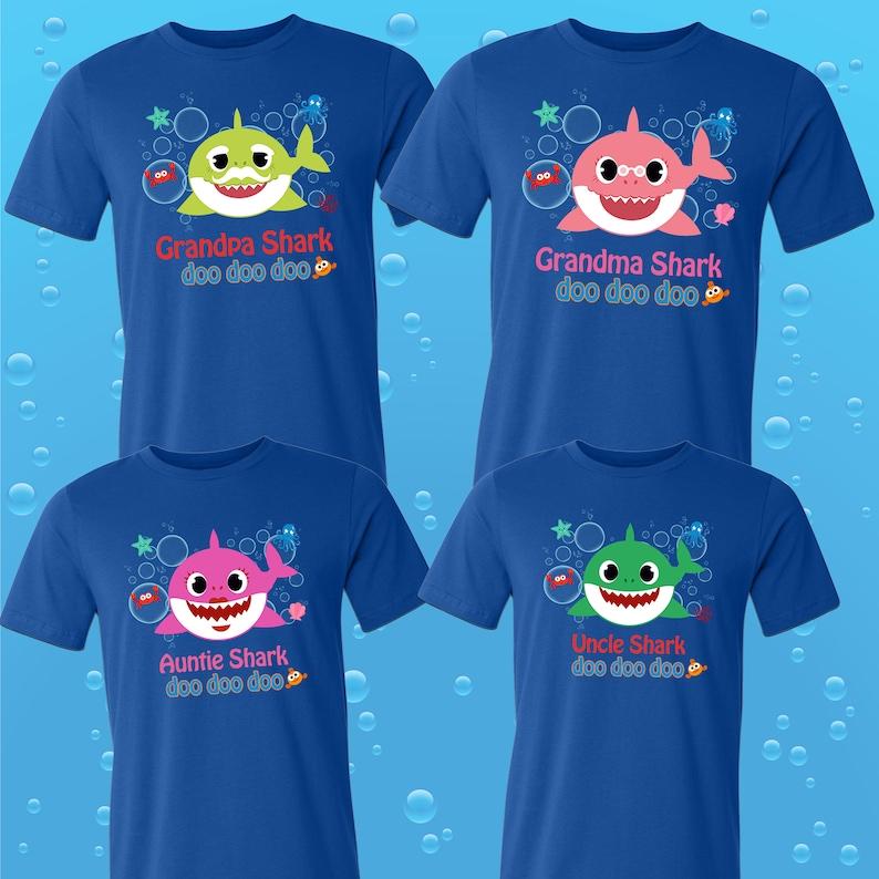 Baby Shark T Shirts Party Family Birthday Son Dad Sister Mom Etsy