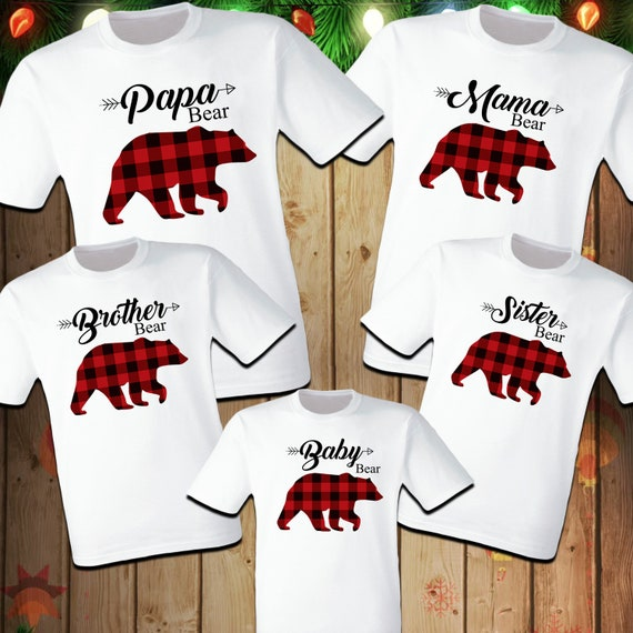 Matching Christmas Shirts For Family.Family Christmas Shirts Family Bear Buffalo Plaid Christmas Family Matching Matching Christmas Shirts Family Shirt Matching Bear Family