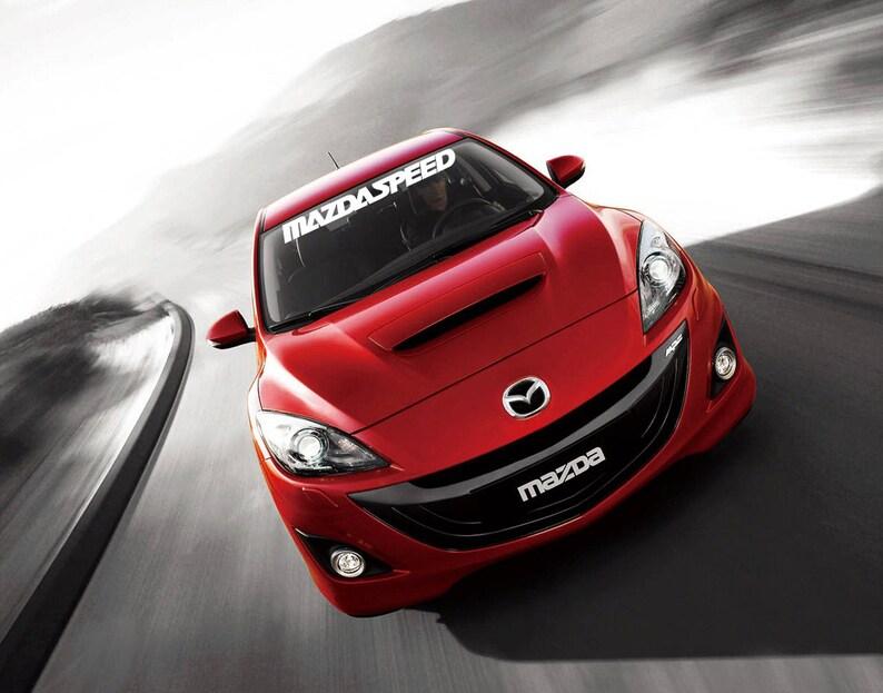 Mazdaspeed Mazda parabrisas bandera etiqueta engomada de la  53a5234e52f