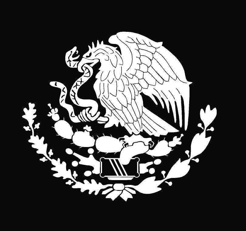 mexico escudo nacional car window vinyl sticker decal etsy Happy 8th Birthday Sign 50