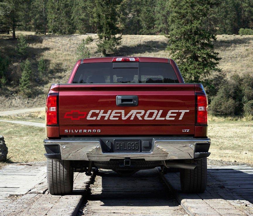 Calcomania para Chevrolet Silverado Cheyenne Tapa Trasera  ba3f7f48f13