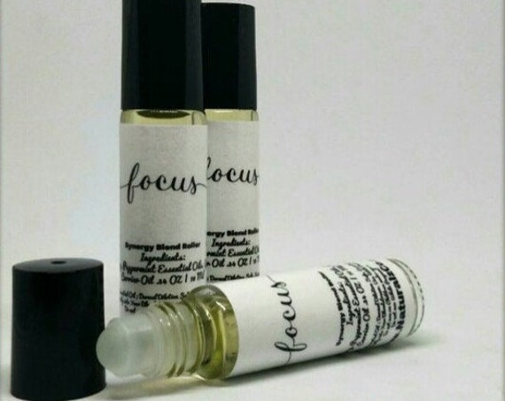 Focus Roller   Improves Concentration   Study Help   Aromatherapy Roller   10 ML Roller Bottle   School Supplies   Natural Remedies