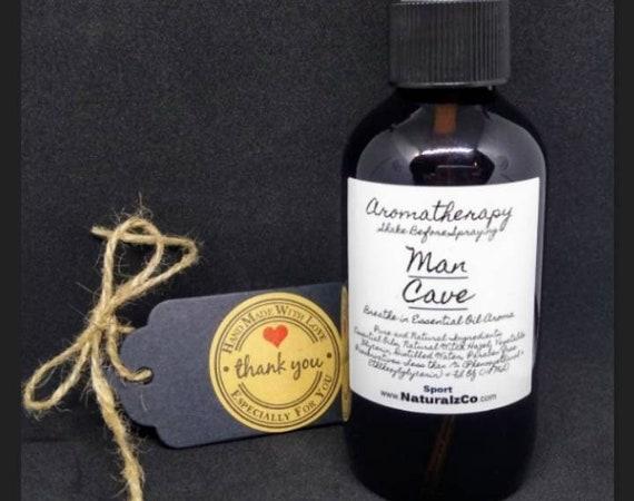 Mens Spray   Man Cave   Fragrance   Father   Boyfriend   For Men   Gift   Linen   Body   Essential Oils   NaturalzCo