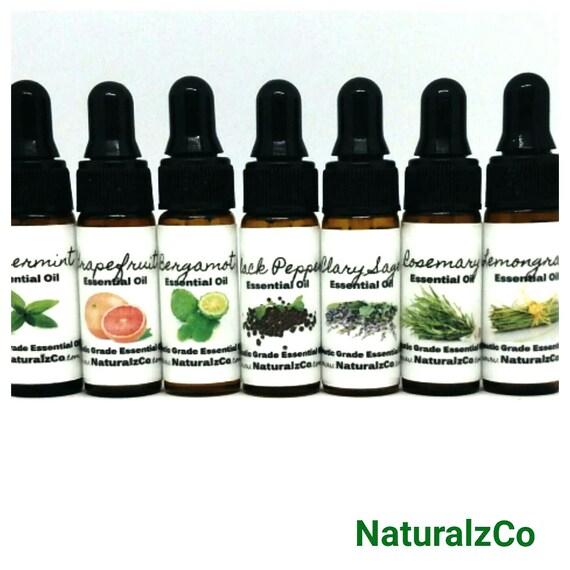 Essential Oils   Pure Therapeutic Grade   5 ML Dropper Bottles  Pure Essential Oils   Diffuser   Aromatherapy   NaturalzCo